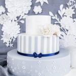 Tort Niebieski Zdobiony