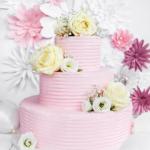 Tort Różowy z Kwiatami