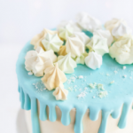 drip cake niebieski